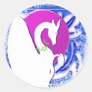 Día de fiesta de la luna I del dragón (ornamento Pegatina Redonda
