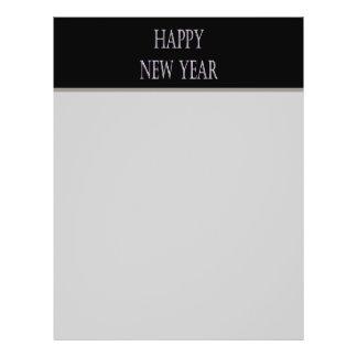 """día de fiesta de la plata de la Feliz Año Nuevo Folleto 8.5"""" X 11"""""""
