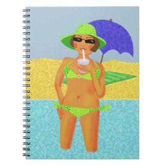 Día de fiesta de la playa cuadernos