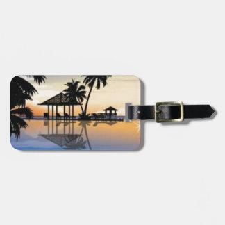 Día de fiesta de la playa etiquetas de equipaje