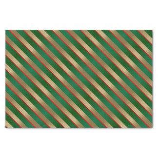 Día de fiesta de la raya del navidad papel de seda pequeño