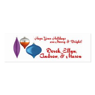 Día de fiesta de la tarjeta tarjetas de visita mini
