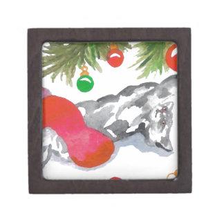 Día de fiesta de las decoraciones del árbol del ga cajas de recuerdo de calidad