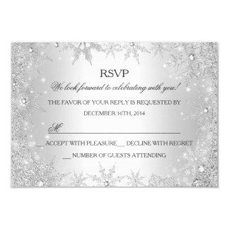 Día de fiesta de plata RSVP del navidad del país