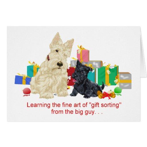 Día de fiesta de trigo del escocés y del perrito tarjeta de felicitación