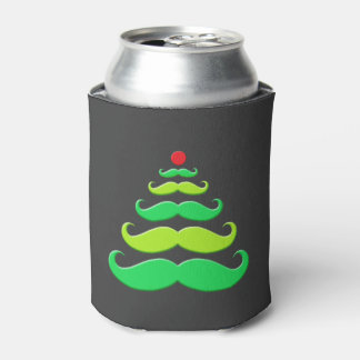 Día de fiesta del árbol de navidad del bigote enfriador de latas