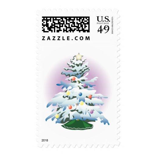 Día de fiesta del árbol de navidad del KRW Nevado Sellos