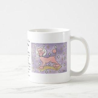 Día de fiesta del caniche rosado cósmico taza de café