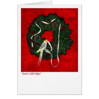 Día de fiesta del Cockatiel, tarjeta de Navidad