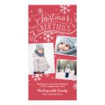 Día de fiesta del copo de nieve de los saludos tarjetas fotográficas