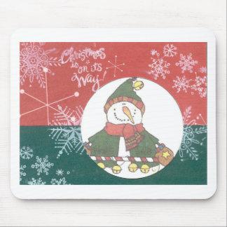 Día de fiesta del diseño del arte del navidad de l alfombrillas de ratones