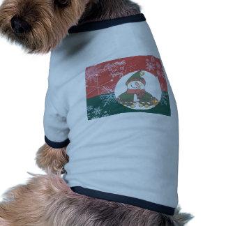 Día de fiesta del diseño del arte del navidad de l ropa perro