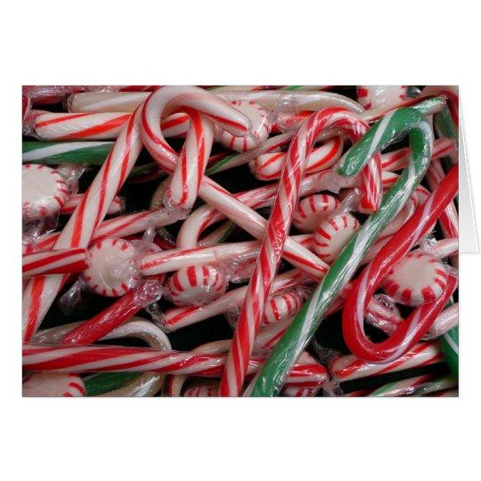 Día de fiesta del navidad de los bastones y de las tarjeta de felicitación