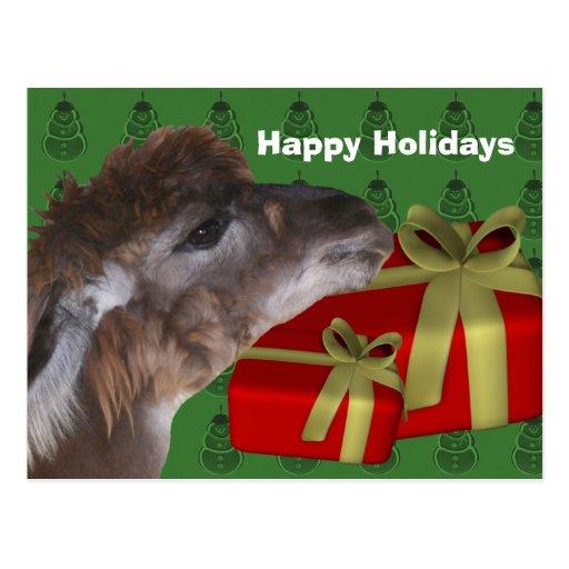 Día de fiesta del navidad del animal del campo de tarjeta postal