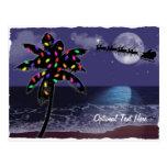 Día de fiesta del navidad del claro de luna del postal