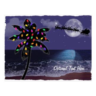 Día de fiesta del navidad del claro de luna del postales