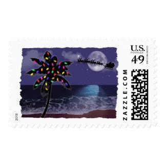 Día de fiesta del navidad del claro de luna del timbres postales