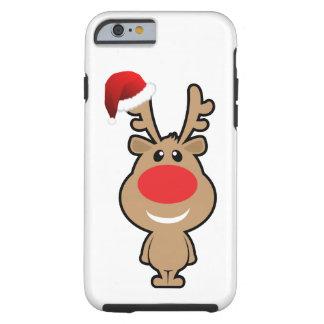 Día de fiesta del navidad divertido santa funda de iPhone 6 tough