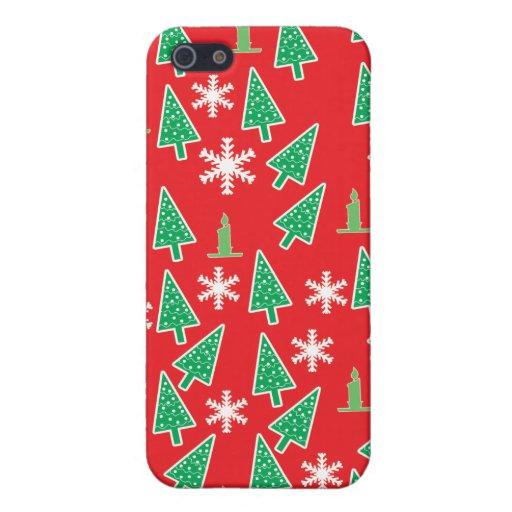Día de fiesta del navidad iPhone 5 carcasas