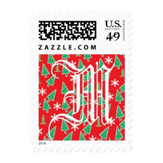 Día de fiesta del navidad sellos