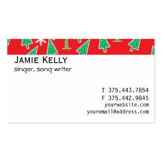 Día de fiesta del navidad tarjeta de visita