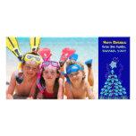 Día de fiesta del navidad tarjetas con fotos personalizadas