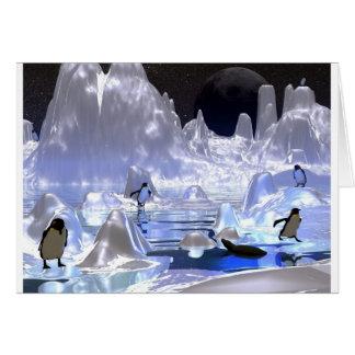 día de fiesta del pingüino del arte 3d tarjeta de felicitación