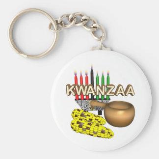 Día de fiesta del propósito de Kwanzaa Llavero Redondo Tipo Pin