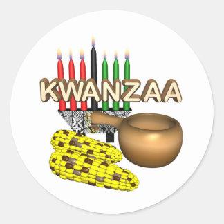 Día de fiesta del propósito de Kwanzaa Pegatina Redonda