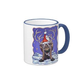 Día de fiesta del reno taza de dos colores