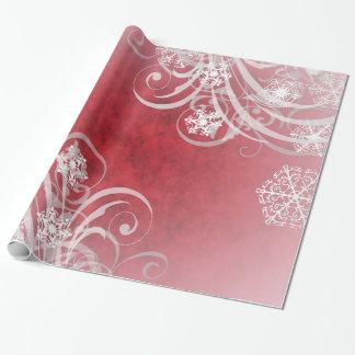 Día de fiesta del rojo de los copos de nieve del