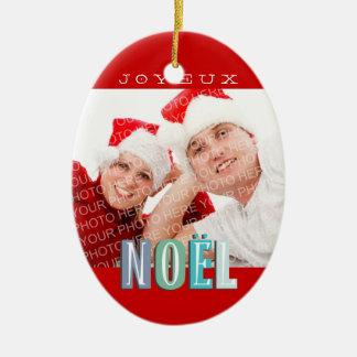 Día de fiesta elegante enrrollado del navidad del adorno navideño ovalado de cerámica