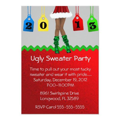 Día de fiesta elegante/fiesta feo del suéter del anuncios personalizados