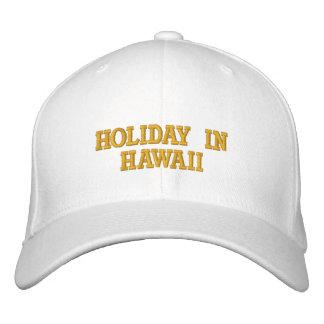 Día de fiesta en Hawaii Gorra Bordada