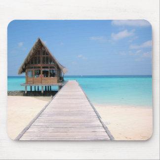 Día de fiesta en Maldivas Alfombrillas De Raton