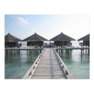 Día de fiesta en Maldivas Tarjetas Postales