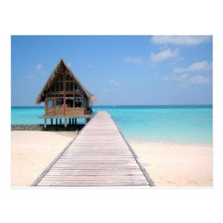 Día de fiesta en Maldivas Tarjeta Postal
