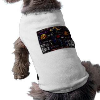 Día de fiesta encantado terciopelo playera sin mangas para perro