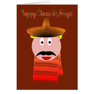 Día de fiesta español mexicano del festival de tarjeta de felicitación