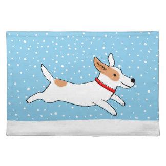 Día de fiesta feliz del perro de la nieve de Jack  Mantel