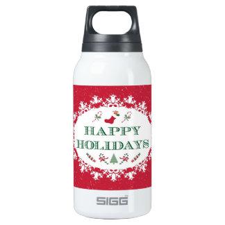 Día de fiesta feliz hermoso botella isotérmica de agua