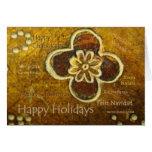 Día de fiesta feliz internacional - tarjeta adapta