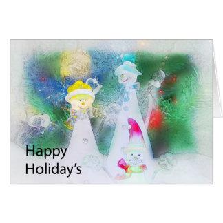 Día de fiesta feliz tarjeta de felicitación