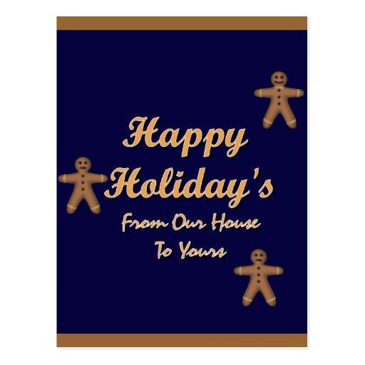 Día de fiesta feliz tarjetas postales
