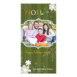 Día de fiesta feliz y feliz Photocards de NOEL col Tarjetas Personales Con Fotos