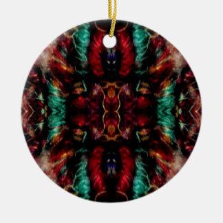 Día de fiesta festivo adorno navideño redondo de cerámica