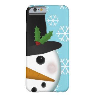 Día de fiesta festivo del muñeco de nieve para el funda de iPhone 6 barely there