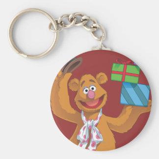 Día de fiesta Fozzie el oso 2 Llavero Redondo Tipo Pin