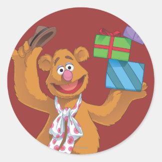 Día de fiesta Fozzie el oso 2 Pegatina Redonda