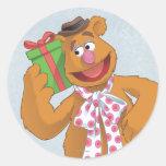 Día de fiesta Fozzie el oso Etiqueta Redonda